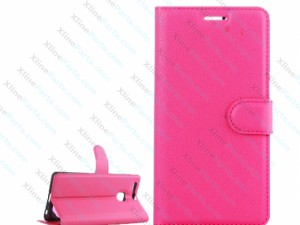 Flip Case Litchi Leather Huawei P9 magenta