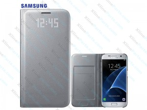 Flip Case LED View Samsung Galaxy S7 G930 silver (Original)