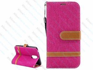Flip Case Leather Lanyard LG K4 (2017) magenta