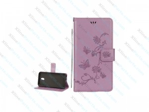 Flip Case Leather Samsung Galaxy J3 (2017) J330 purple