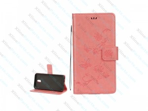 Flip Case Leather Samsung Galaxy J3 (2017) J330 pink
