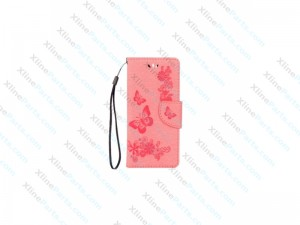Flip Case Leather Huawei P10 Lite pink