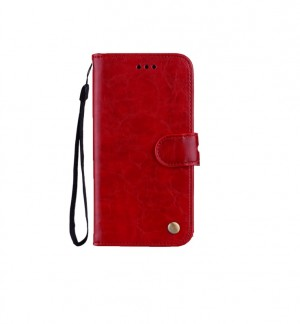 Flip Case Leather  Huawei P10 Lite red