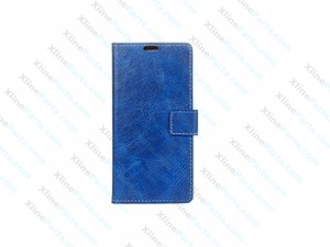 Flip Case Leather LG Q6 blue