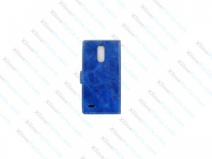 Flip Case Leather with Holder LG K10 (2017) Retro blue