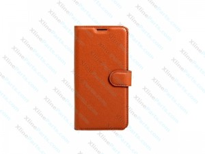 Flip Case Leather Magnetic LG K4 (2017) brown