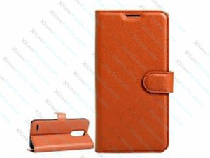 Flip Case Leather LG K10 (2017) brown