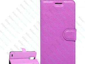 Flip Case Leather  Magnetic LG K10 (2017) purple