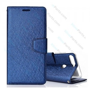 Flip Case Fancy Huawei Y7 Prime Y7 Pro (2018) dark blue