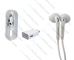 Travel Charger MIcro USB 2 Pin Samsung with Headset (Original) Kit white bulk