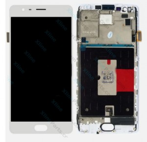 LCD with Touch and Frame OnePlus 3 white HQ