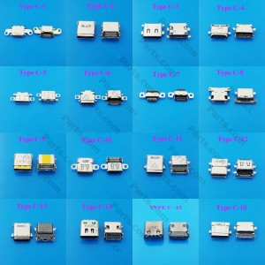 Mix Connector Chargers Set Type-C 3.1 Female Android Mobile Phones and Tablets