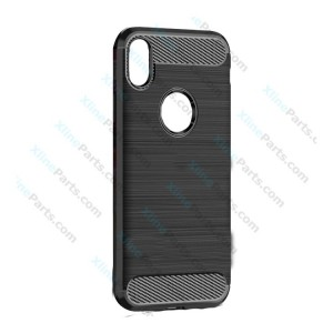Silicone Case Carbon Apple iPhone XR black