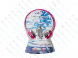 Headset with Microphone and Volume Control MSK-370 pink