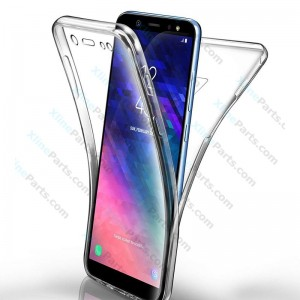 Silicone Case 360 Degree Samsung Galaxy A6 Plus (2018) A605 Double Sided clear