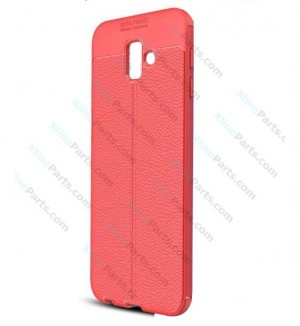 Silicone Case Auto Focus Samsung Galaxy J6 Plus (2018) J610 red (Original)