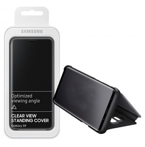Flip Case Samsung Galaxy S9 G960 Clear View Standing black (Original)