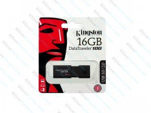 Kingston DataTraveler Pen Drive DT100 G3 USB 3.1 16GB black (Original)