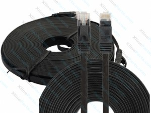 Lan Cable Ulta-Thin Flat CAT6 10M black