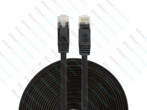 Lan Cable Ulta-Thin Flat CAT6 15M black