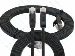Lan Cable Ulta-Thin Flat CAT6 3M black