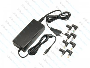 Laptop Charger Universal  90 Watt with 8 Connectors black