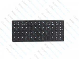 Laptop Keyboard Stickers French - English