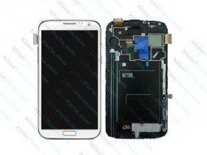 LCD with Touch and Frame Samsung Galaxy N7100 Note 2 white (Original)
