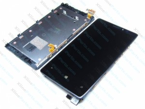 LCD with Touch and Frame Nokia Lumia 920 black OCG