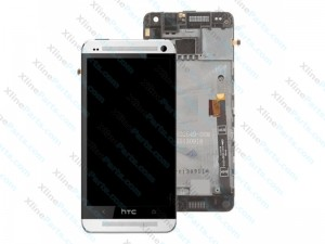LCD with Touch and Frame  HTC One Silver