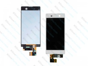 LCD with Touch Sony Xperia M5 white OCG