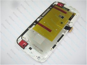 LCD with Touch  and Frame Motorola Moto G2 XT1068 white