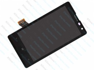 LCD with Touch and Frame Nokia Lumia 1020 black