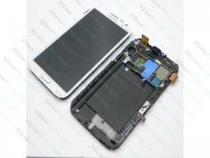 LCD with Touch and Frame Samsung Galaxy N7100 Note 2 white AAA
