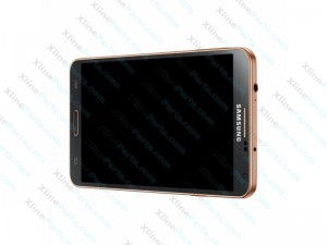 LCD with Touch and Frame Samsung Galaxy Note 3 N9005 black gold (Original)