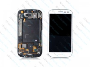 LCD with Touch and Frame Samsung Galaxy S3 I9300 white OCG