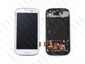 LCD with Touch and Frame Samsung Galaxy S3 Neo I9301 white OCG