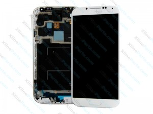 LCD with Touch and Frame Samsung Galaxy S4 LTE I9506 white OCG