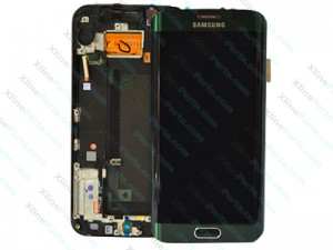 LCD with Touch and Frame Samsung Galaxy S6 Edge G925 green (Original)