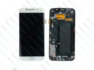 LCD with Touch and Frame Samsung Galaxy S6 Edge G925 white (Original)