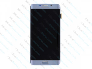 LCD with Touch and Frame Samsung Galaxy S6 Edge Plus G928  silver (Original)
