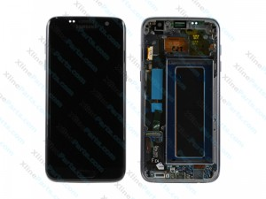 LCD with Touch and Frame Samsung Galaxy S7 Edge G935 black (Original)