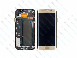 LCD with Touch and Frame Samsung Galaxy S7 Edge G935 gold (Original)