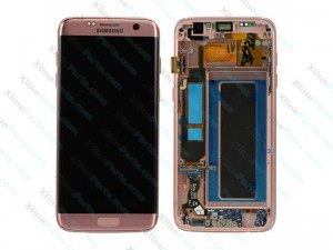 LCD with Touch and Frame Samsung Galaxy S7 Edge G935 pink gold (Original)