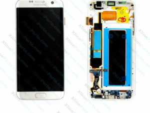 LCD with Touch and Frame Samsung Galaxy S7 Edge G935 silver (Original)