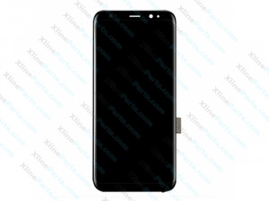 LCD with Touch and Frame Samsung Galaxy S8 G950 silver (Original)