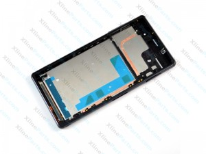 LCD with Touch and Frame Sony Xperia Z3 D6603 black OCG