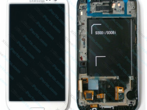 LCD with Touch and Frame Samsung Galaxy S3 Neo I9301 white (Original)