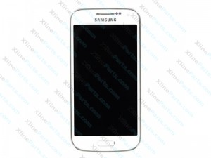 LCD with Touch and Frame Samsung Galaxy S4 Mini I9195 white AAA