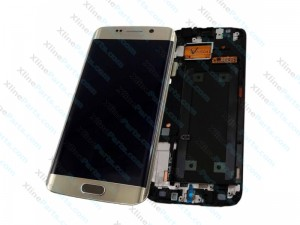 LCD with Touch and Frame Samsung Galaxy S6 Edge G925 gold (Original)